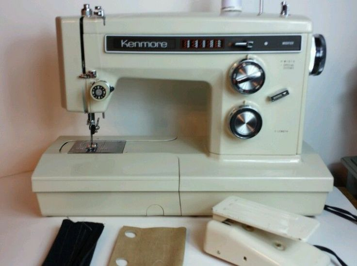 heavy duty kenmore 158 1941 convertible sewing machine  u0026 case immaculate
