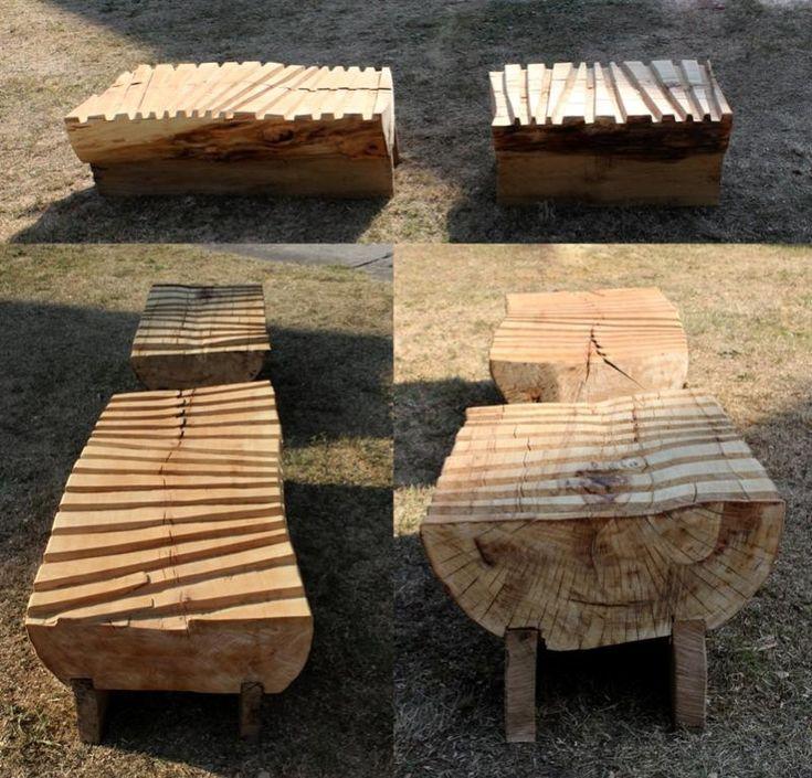 Lavice je vyřezávaná, má dvě části. Vnitřní i venkovní použiti. Dřevo kombinace lípa, dub.