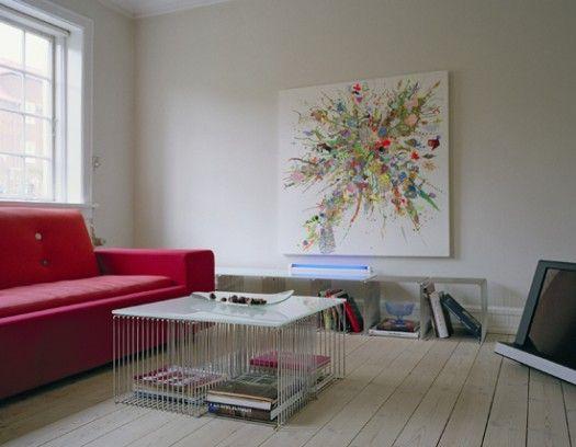 Multifunctional Shelving by Montana Møbler | Living Room Decoration.  The Panton Wire Cubes. #montanafurniture #vernerpanton #panton #danishdesign #interiordesign