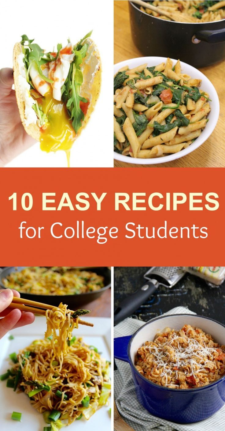 10 Easy Recipes For University Students Recipesfordays Recipesforwomen Recipesmom Recipesw Healthy College Meals College Dinner Recipes Easy College Meals