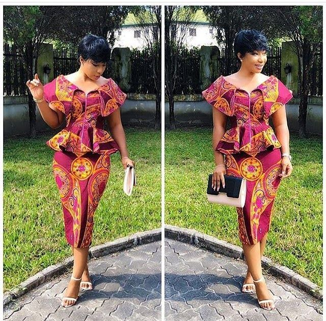 Super Stylish and Vibrant Ankara Skirt and Blouse Styles for Beautiful Ladies #ankara_skirt_and_blouse_styles #ankara_styles