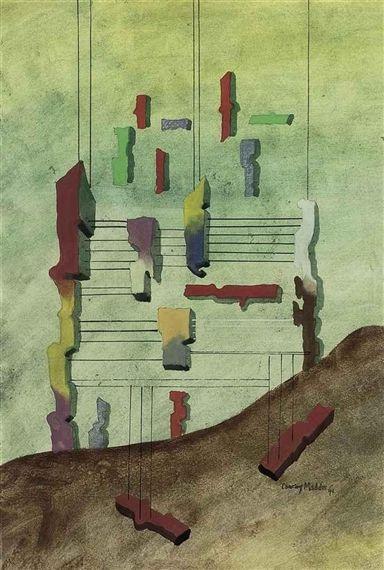 Conroy Maddox, Scaffolding, 1941