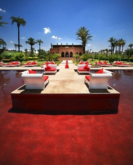Blood Red Swimming Pool Murano Resort Marrakech Morocco Hotel Pools Pinterest