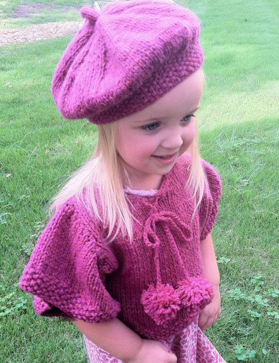 Knitting Pattern For Baby Capelet : 158 best images about Baby Ponchos - Knitting and Crochet Patterns on Pintere...