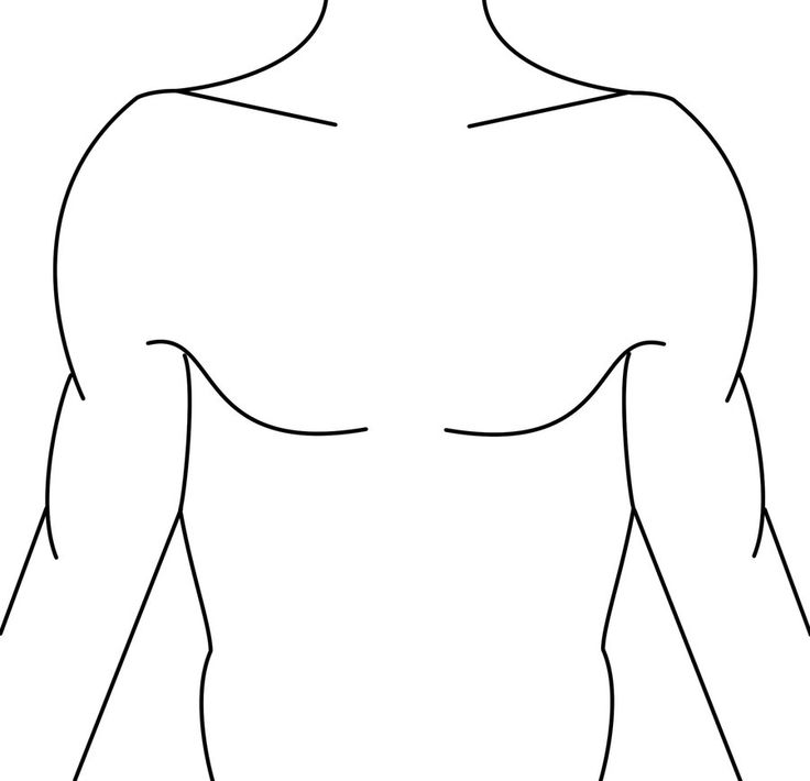 blank human body diagram tattoo