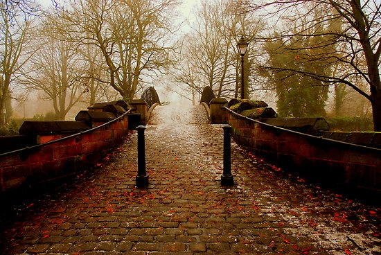 """""""OVER WE GO"""" by snapitnc THE FOOTBRIDGE OVER THE BRIDGEWATER CANAL,AT WORSLEY VILLAGE, MANCHESTER,ENGLAND"""