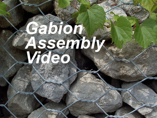 gabion video assembly  Gabion rocks shall range between 4 in. (0.10 m) and 8 in. (0.20 m). http://www.youtube.com/watch?v=aTGtg8bWxk0