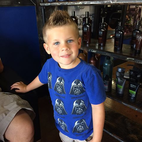 The girls are excited to get the young fellas their last summer haircut! The shop is open today from 9-5!!! #hairmx #mechanix #auburnhills #littleboyscuts #dappergents #americancrew #redken