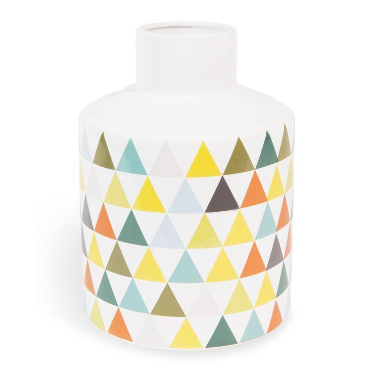 Vase en dolomite H 22 cm VINTAGE TRIANGLE   Maisons du Monde