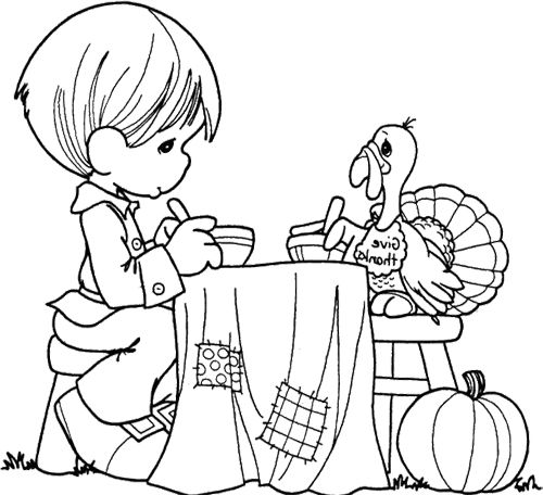 precious moments coloring pages autumn - photo#27