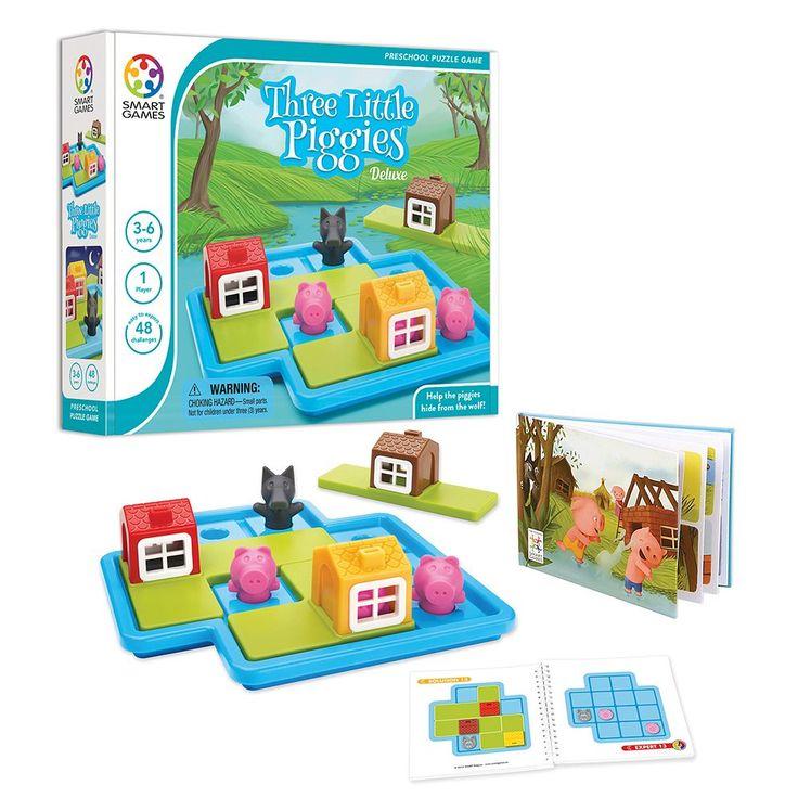 Three Little Piggies Multi-Level Logic Game by SmartGames, Multicolor
