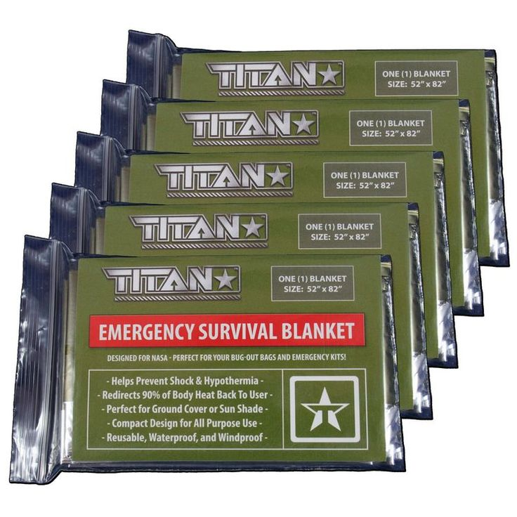 OLIVE DRAB - This Mylar survival blanket features our mil-spec Olive-Drab color on one side, and highly-reflective silver Mylar on the other. EMERGENCY USE - Perfect for emergency situations where war