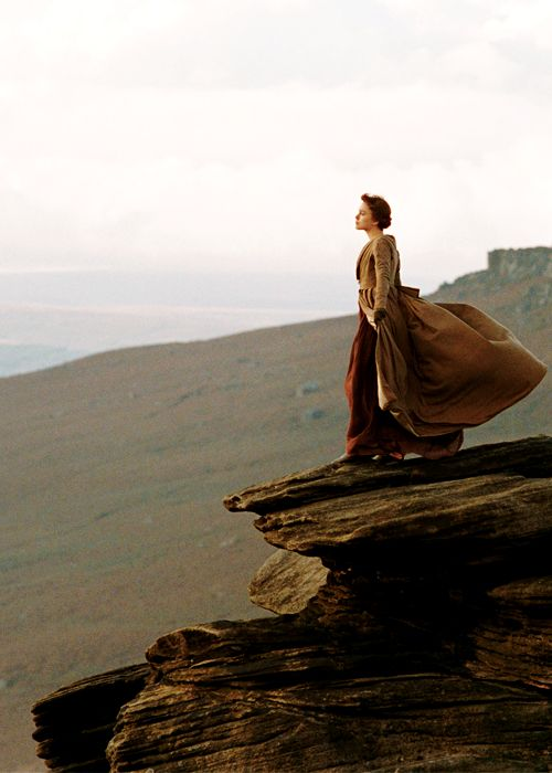 She basically lived my childhood fantasy in that scene. Standing on a mountain...flowy dress...blowing in the wind