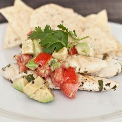 Cilantro-Lime Chicken with Avocado Salsa OMG! This looks amazing, so ...