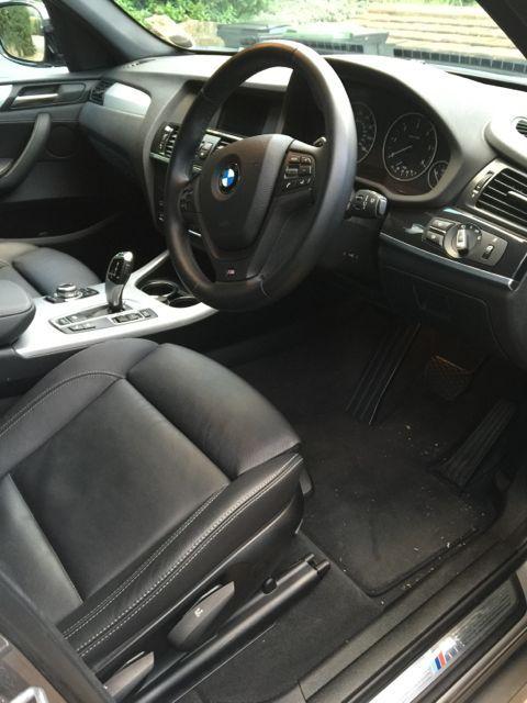 BMW X3 M Sport interior, 2014