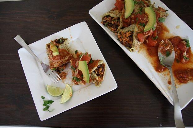 Grain-free Enchiladas with easy shredded chicken and a homemade decadent enchilada sauce