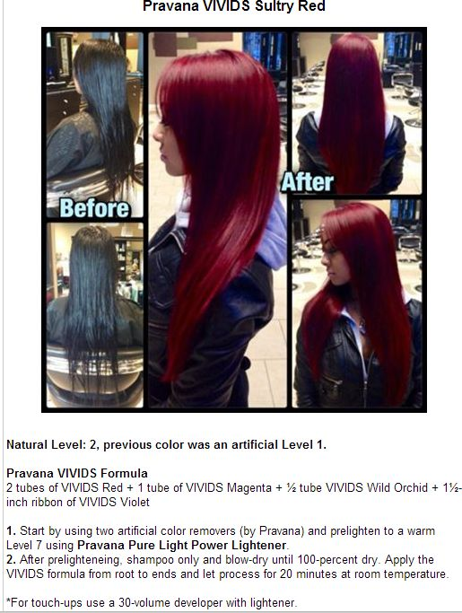 Perfect Pravana Vivids Red Velvet.