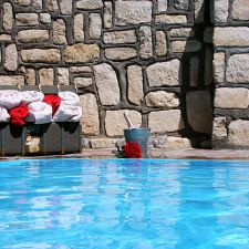 Swimming pool at Stampriet Historical Guesthouse
