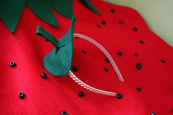 DIY Strawberry Kids Easy Halloween Costume | The Garter Girl by Julianne Smith