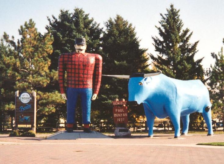 Paul Bunyan and Babe statues Bemidji Minnesota crop - Bemidji, Minnesota - Wikipedia