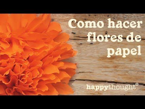 Flores de cempasuchitl {FLORES DE PAPEL CREPE} // Dia de muertos - YouTube