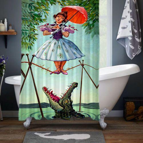 New-Haunted-Mansion-Stretching-Disney-Print-Custom-Shower-Curtain-Size-60-034-x-72-034