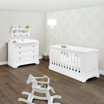 Babybett EMILIA, 70x140cm, Schlupfsprossen, umbaubar, weiss |  günstig online kaufen | Dannenfelser Kindermöbel