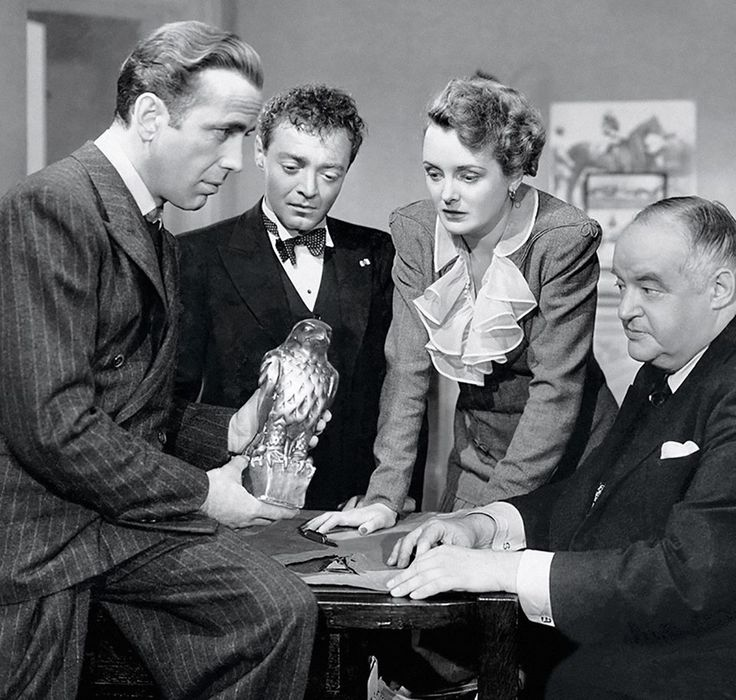 "Humphrey Bogart, Peter Lorre, Mary Astor, Sidney Greenstreet - ""The Maltese Falcon"" (1941)"