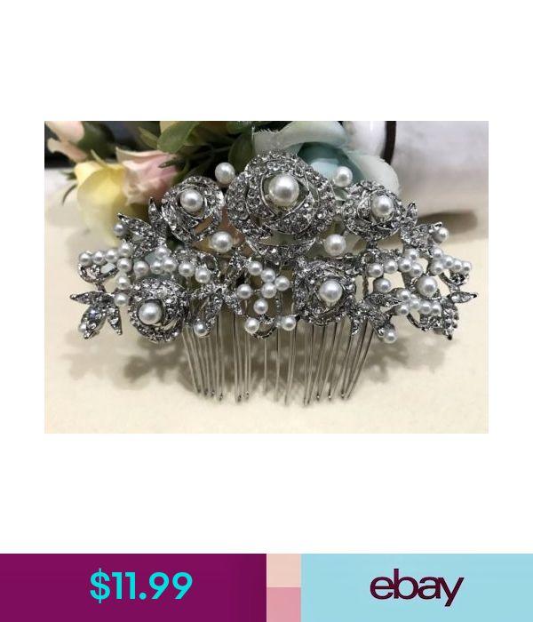 beautiful elegant wedding  bridal hair comb pearl and crystal bridesmaid ha5875