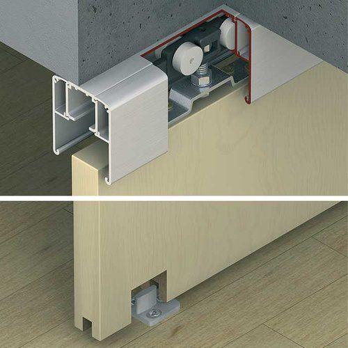 Hafele Slido Classic 40 P Fitting Set With 1 Side Smuso Soft Close 940 43 115 Door Fittings Sliding Doors Sliding Door Hardware