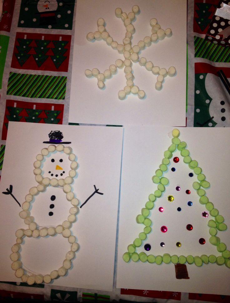 Marshmallow Christmas Crafts Kid Ideas Pinterest