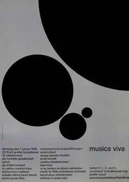 """vintage poster – """"Musica Viva"""" by Muller-Brockmann"""