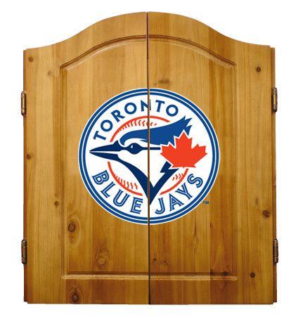 Toronto Blue Jays Premium Solid Pine Dartboard Cabinet