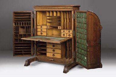 I love these old desks, I want one! WALNUT WOOTON DESK