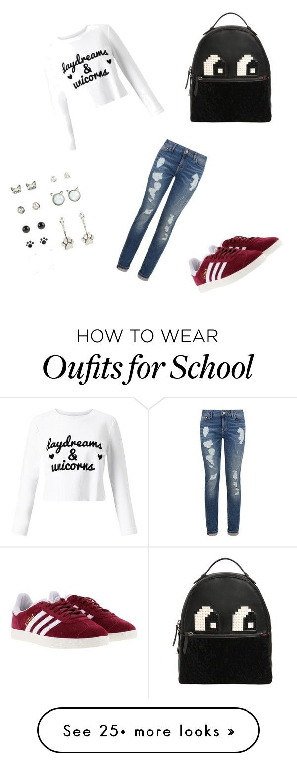 """""""Back to School ❤️️"""" by someomewhohastoomuchfreetime on Polyvore featuring Miss Selfridge, Les Petits Joueurs, Tommy Hilfiger and adidas"""