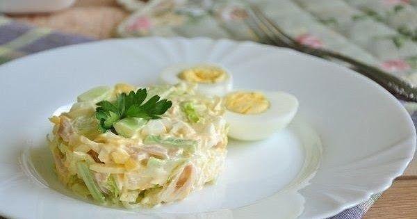 Салат «Неженка». Вкусный праздничный салатик, нежный, но пикантный за счет чесночка.