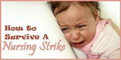 Baby Nursing Strike - Help for the breastfeeding mom when baby suddenly refuses to breastfeeding or eat