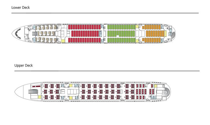 Qantas A380 Seat map released