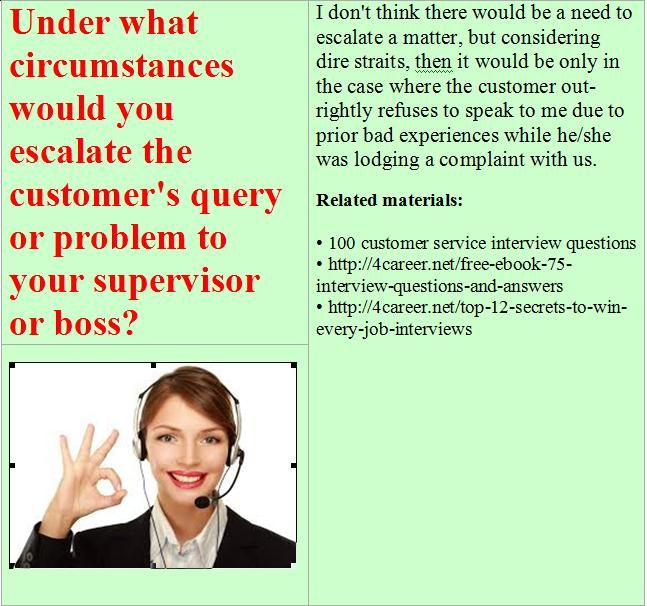 15 best Customer service advisor interview questions images on - interview question
