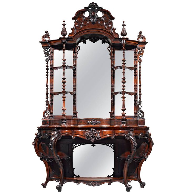 Rococo Revival Rosewood Etagere by Thomas Brooks