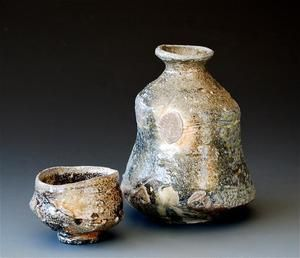 woodfired tokkuri and sake cup