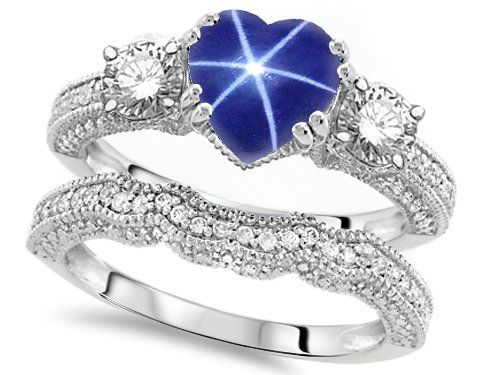 Original Star K (tm) Heart Shape 7mm Created Star Sapphire Engagement Wedding Set in 925 Sterling Silver Size 5 Star K,http://www.amazon.com/dp/B00HLVMNCO/ref=cm_sw_r_pi_dp_rM7itb0EVDJ9ACPV