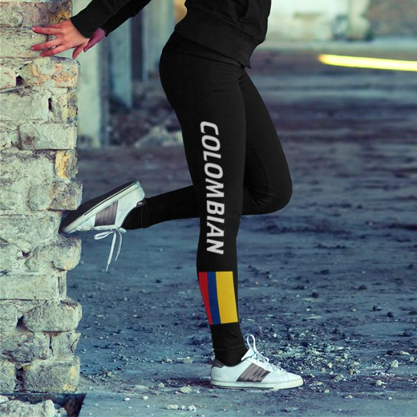 Colombian Flag Leggings – Shop With Cre