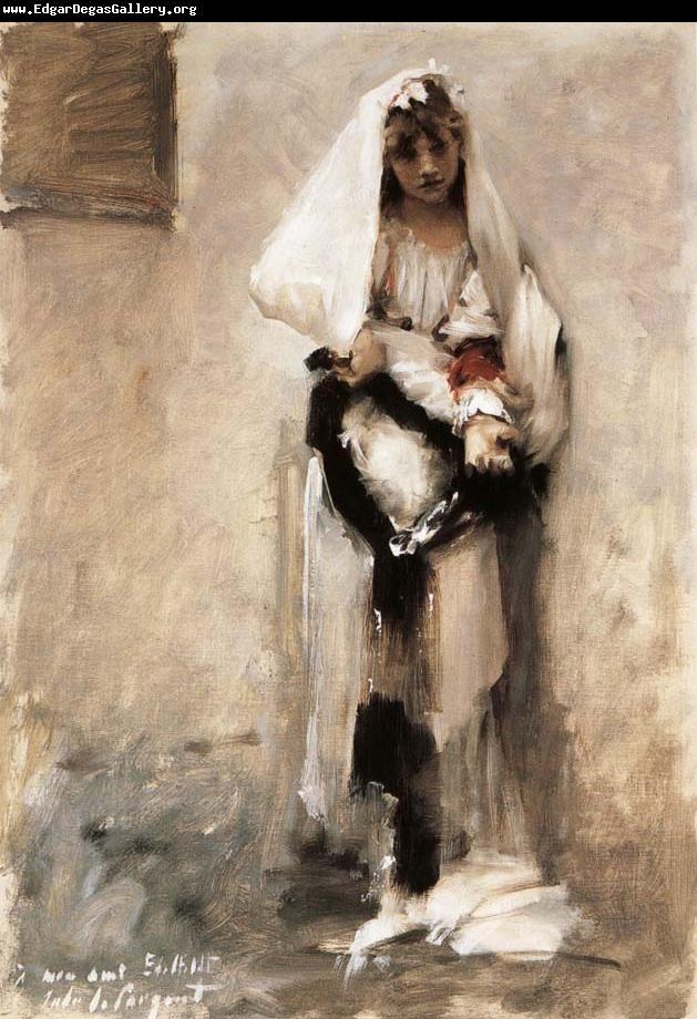 Edgar Degas Museum: A beggarly girl John Singer Sargent: Girls, John Singer Sargent, Beggar Girl, Parisian Beggar, Artist, Painting, Parisians, 1856 1925