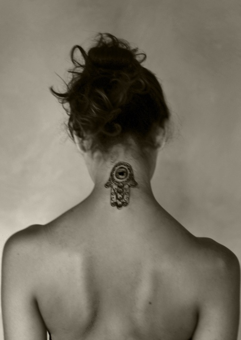 hamsa neck tattoo evil eye and hand tattoo pinterest hamsa neck tattoos and evil eye. Black Bedroom Furniture Sets. Home Design Ideas