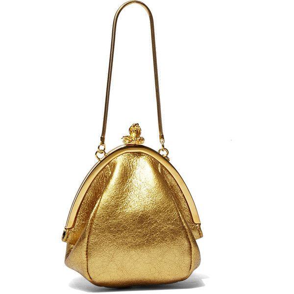 royal blue patent leather clutch - SAINT LAURENT Women'S Mini Metallic Bijoux Serpent Bag In Gold ...