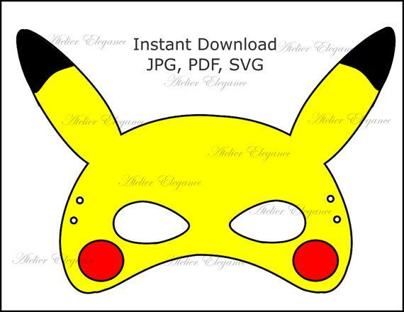 picture regarding Pikachu Printable known as Graphic consequence for pikachu mask printable Pokemon inside of 2019