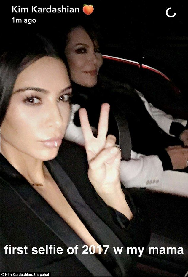Picture perfect: Kim first showed off her lip ring as she took to Snapchat on January 4 to...
