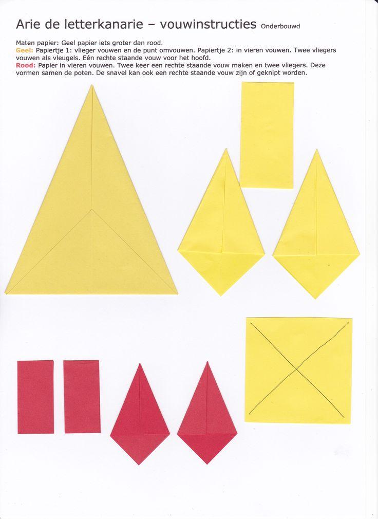 Arie - vouwinstructies