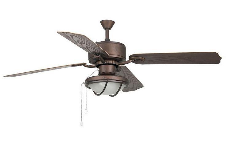 Фото: Потолочный вентилятор (люстра - вентилятор) Hierro Marron (Уэрро коричневый)